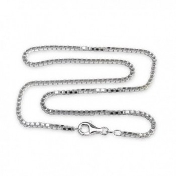 2.5mm Sterling Silver Venetian Box Chain Necklace with Extra Durable Protective Finish - C617Y0ZLN5I