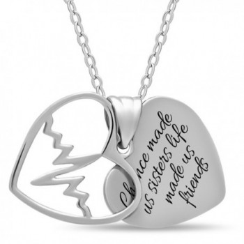 Sterling Silver Sister Necklace Forever - CE12FYZWJX3
