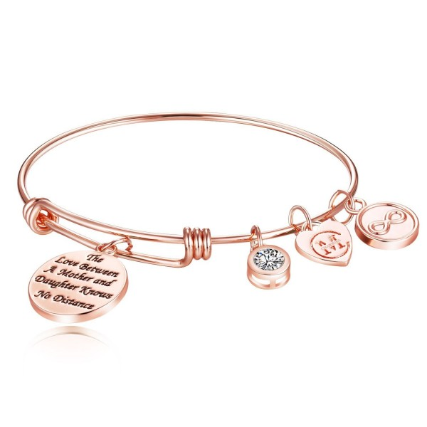 Expandable Bracelet Inspirational Christmas Thanksgiving - Rose Gold - CM189X59OQ5