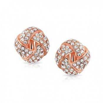 Bling Jewelry Crystal Earrings Plated in Women's Clip-Ons Earrings