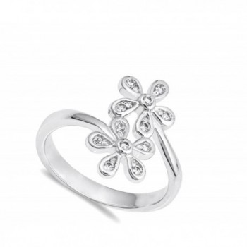 White Plumeria Flower Sterling Silver