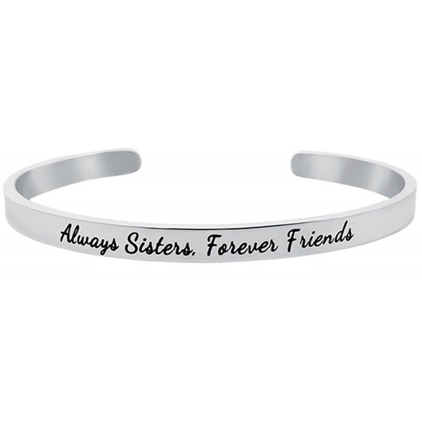 Sister Bracelet Sentimental Positive Stainless - Stainless Steel - C21879MWWQH