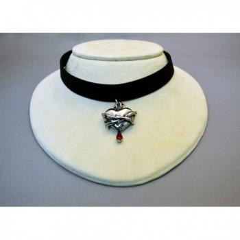 Velvet Choker Bleeding Wrapped Adjustable in Women's Choker Necklaces