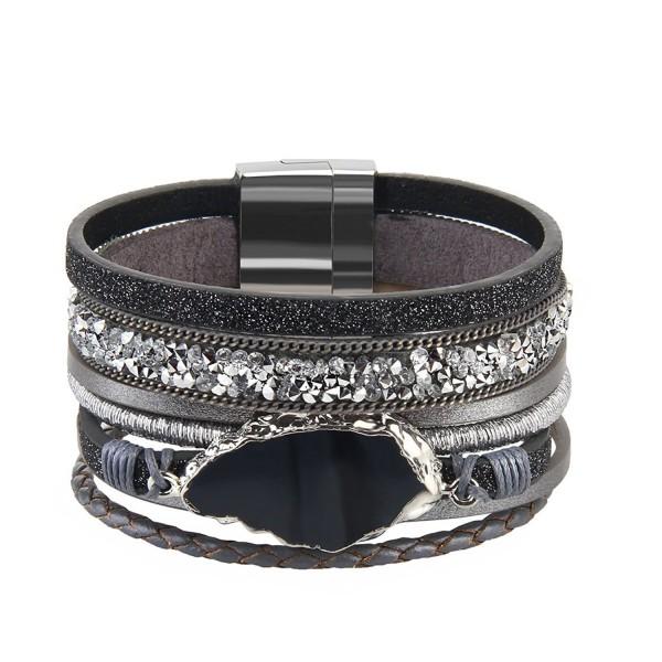 Grey Handmade Braided Bracelet Accessories - Grey handmade wristband - CS189YIM8SN
