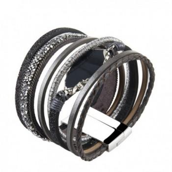 Grey Handmade Braided Bracelet Accessories in Women's Wrap Bracelets