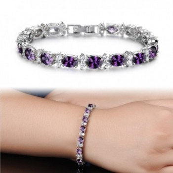 SDLM Fashion Sterling Gemstone Bracelet 7