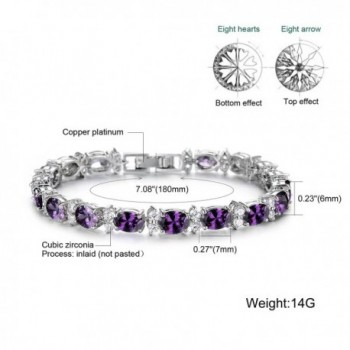 SDLM Fashion Sterling Gemstone Bracelet 7 in Women's Tennis Bracelets