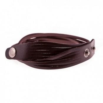 True Heart Style Multi strand Chocolate in Women's Wrap Bracelets