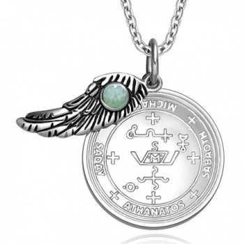 Archangel Michael Amulet Pendant Necklace in Women's Pendants