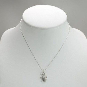 Sterling Silver Smiling Pendant Necklace in Women's Pendants