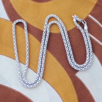 Sterling Silver thick Popcorn Necklace