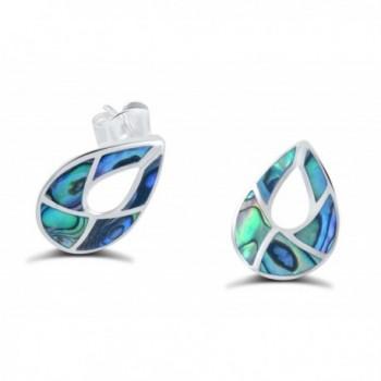 Sterling Tear drop Iridescence Necklace Earrings