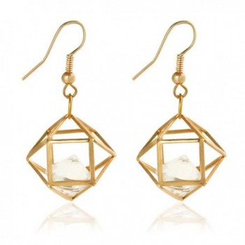 Women's Gold Cutout Diamond Chandelier Tiered Dangle Earrings - Rose Gold - CH187EDGCE2