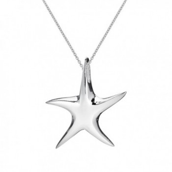 Whimsical Starfish .925 Sterling Silver Necklace - C511NR6HPK9