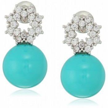 Collection Robin Simulated Zirconia Earrings - Blue - CM126M99TDN
