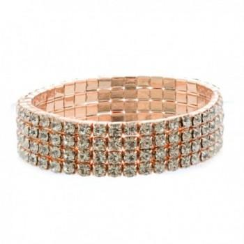 Topwholesalejewel Fashion Jewelry Stretch Bracelet Rose Gold Plating - C81888S30GN