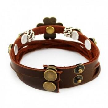 Christmas Four Petal Vintage Adjustable Bracelet