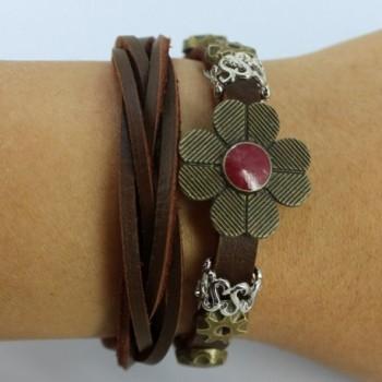 Christmas Four Petal Vintage Adjustable Bracelet in Women's Wrap Bracelets