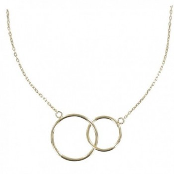 Les Poulettes Jewels - Gold Plated Necklace Two Circles - CP11KAX2BT1