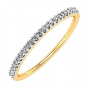 0.07 carat 14K Gold Round Diamond Ladies Anniversary / Wedding stackable Band Ring - IGI Certified - yellow-gold - CC182A9WSKT