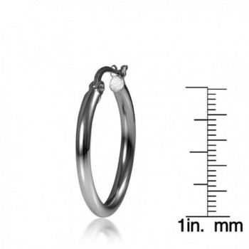 Flashed Sterling Silver Polished Earrings in Women's Hoop Earrings