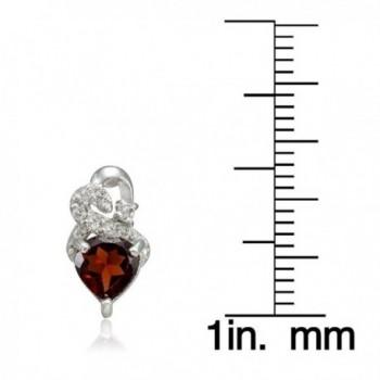 Sterling Silver Garnet Double Earrings in Women's Stud Earrings