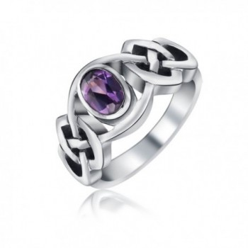 Bling Jewelry Alexandrite Celtic Knot Band Sterling Silver Ring - C211F9J84YN