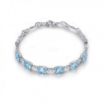 925 Sterling Silver Chain Heart Bangle Bracelet Made with Swarovski Crystals Jewelry for Women Girls - A3 - C7187Q8ZNYI