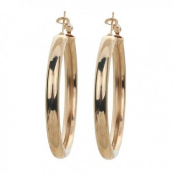 Yazilind Alloy Hoop Earrings for Women Gifts for Birthday - Gold - CC12D0QFXQN
