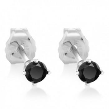 Diamond Rhodium Nickel Sterling Earrings