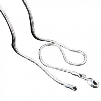 Shensee Unique Unisex Silver Jewelry Snake Chain Necklace (18inch) - CS126PFR4KJ