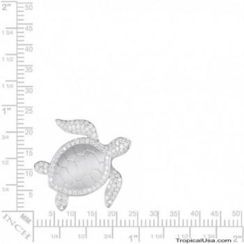Sterling Silver Turtle Necklace Pendant in Women's Pendants