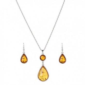 YAZILIND Waterdrop Earring Necklace Jewelry Set - C512IT2RIFR