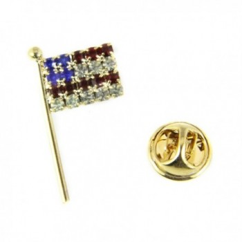 6030387 US Flag Brooch Lapel Pin Made in USA Red White Blue Patriotic Very - C511KCIA2EZ