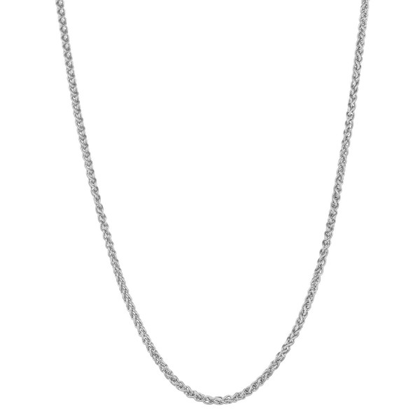 Sterling Silver 1.1mm Adjustable Length Round Wheat Chain (22 inch max length) - CE1166ST7PB