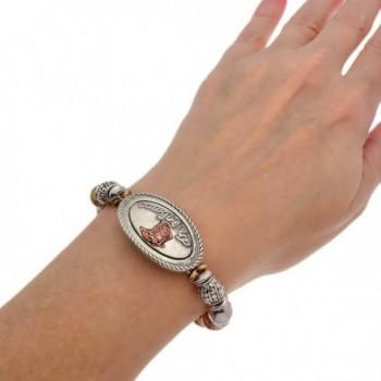 PammyJ Tri Tone Western Cowgirl Bracelet