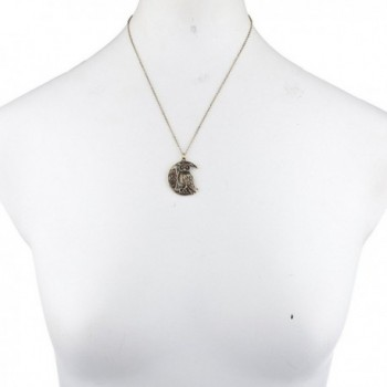 Lux Accessories Burnished crescent Necklace in Women's Pendants