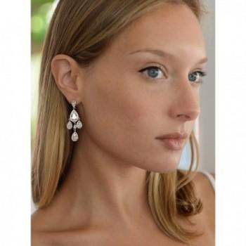 Mariell Wedding Bridal Chandelier Earrings