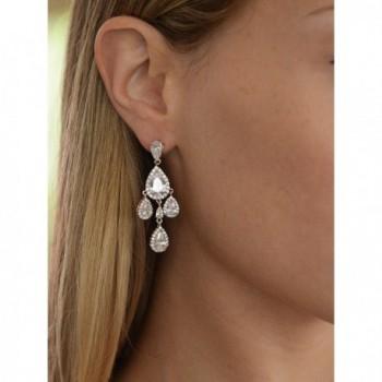 Mariell Wedding Bridal Chandelier Earrings in Women's Clip-Ons Earrings