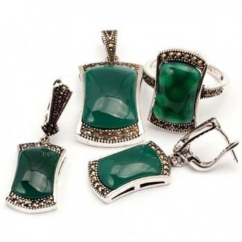GEM inside Antiqued Tibeten Earrings Pendant