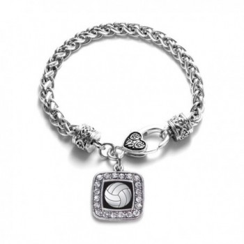 Volleyball Classic Silver Crystal Bracelet