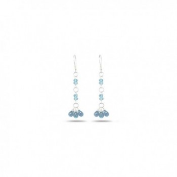 3.00-4.00 Cts Aquamarine Earrings in Sterling Silver - C611C6ELWR5