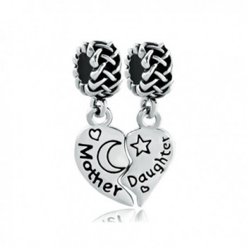 Mother Daughter Heart Butterfly Love You to the Moon & Back Charm - CB11TVMWW0V
