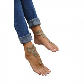 Cougars Handmade Jewelry Barefoot Sandals in Women's Anklets