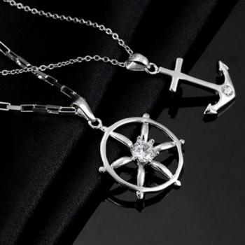 FLOW ZIG Anchor Couple Necklaces