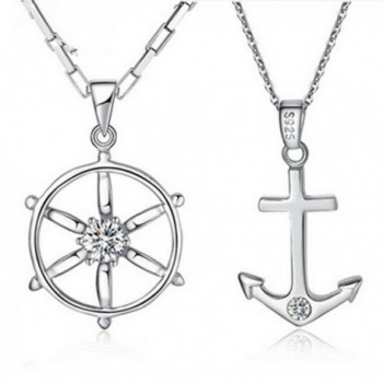FLOW ZIG Anchor Couple Necklaces in Women's Chain Necklaces