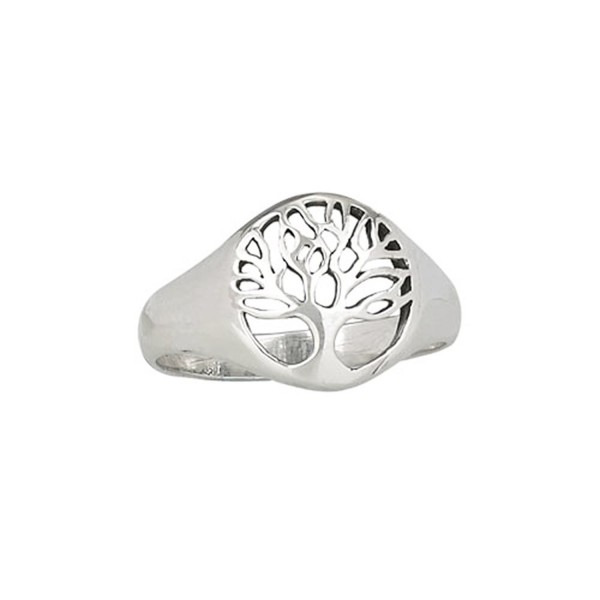 Designs by Nathan Solid 925 Silver Framed Tree of Life Ring- Comforting- Cycle of Eternal Life and Growth - C512F0D3S8J