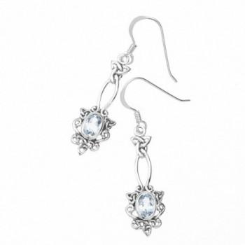 Oxidized Sterling Silver Celtic Earrings