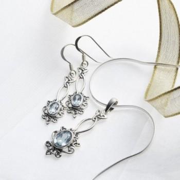 Oxidized Sterling Silver Celtic Earrings in Women's Drop & Dangle Earrings