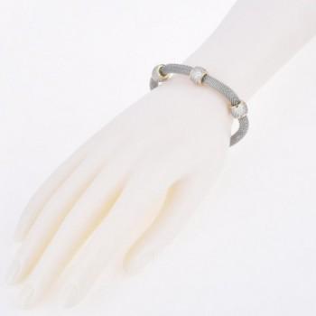 Stainless Steel Mesh Bracelet Barrels in Women's Strand Bracelets